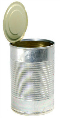 empty, unlabelled can