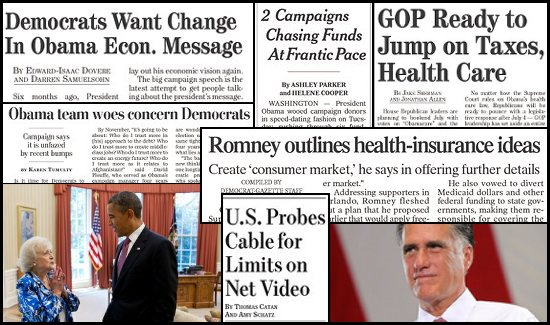 newspaper headline collage