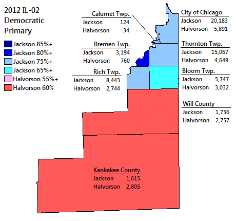 map of the 2012 Democratic Primary