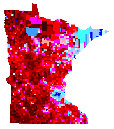 Map of MN precincts by Amendment 1 results