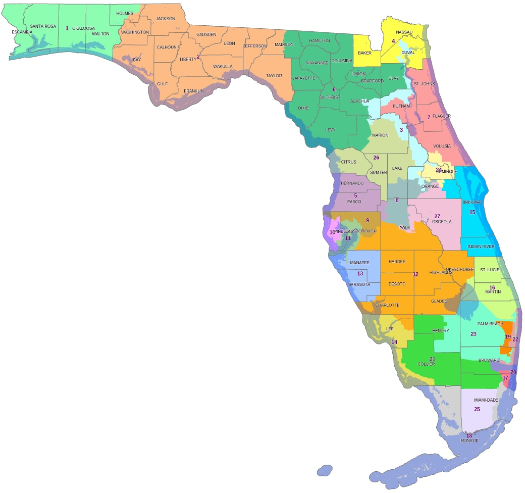 Printable Florida State Map
