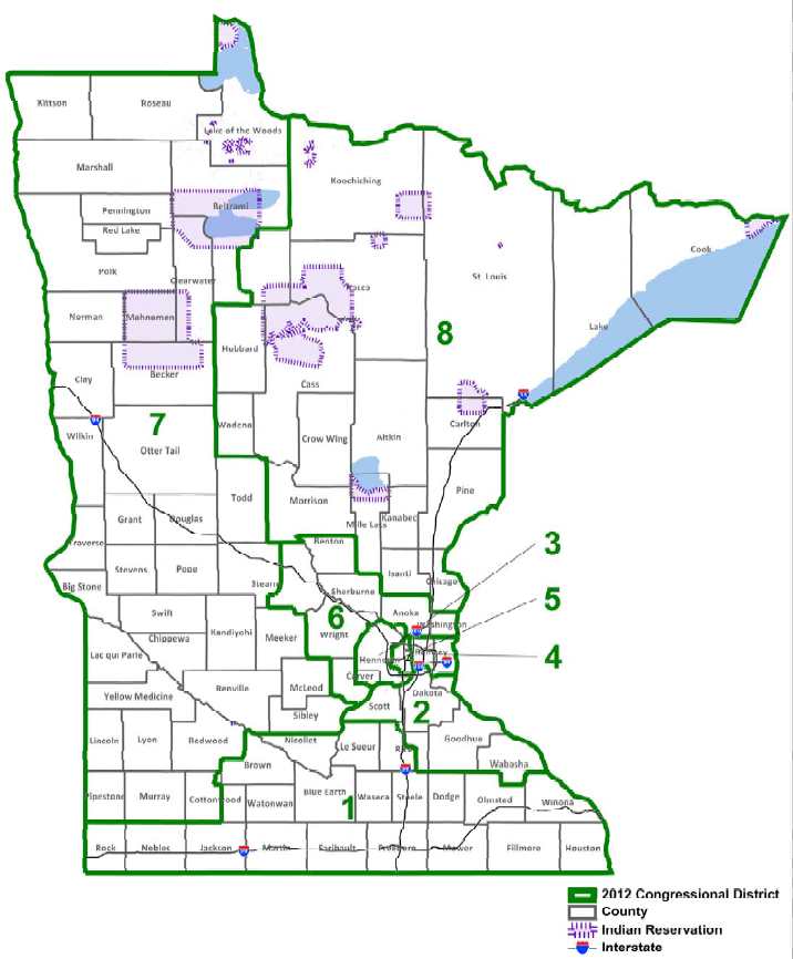Minnesota Redistricting Court Issues A Leastchange Map