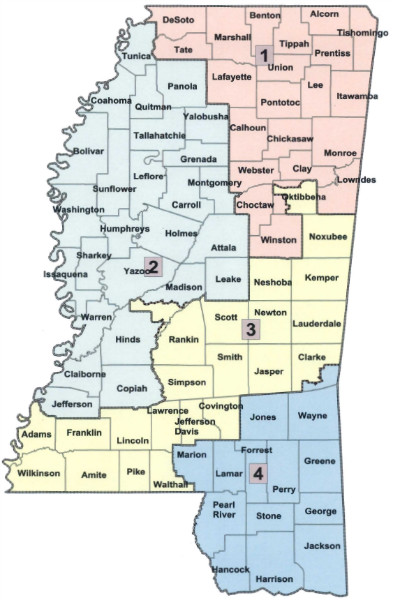 New Mississippi congressional map