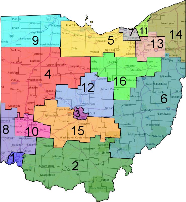 Ohio Senate District Map Afputra Com