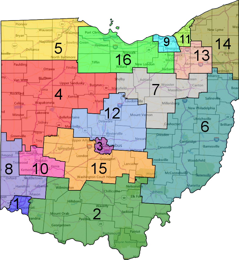 Republicans Rigged The House Through Gerrymandering Democrats Can - Us congressional districts map ohio
