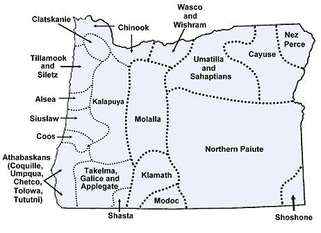 A map of Oregon Indians
