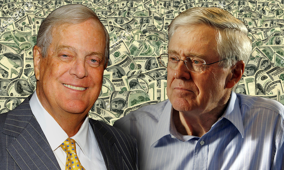 Must read jane mayer 39 s dark money mayer drags the for Charles und david koch