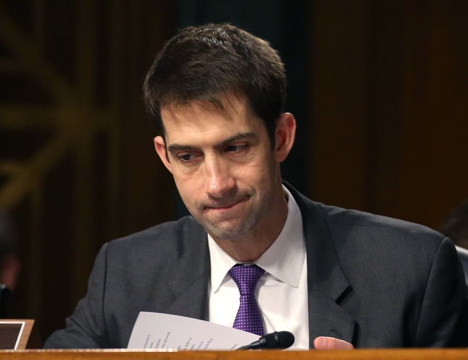Republican Tom Cotton has hissy fit, exposes himself as massive and vindictive hypocrite