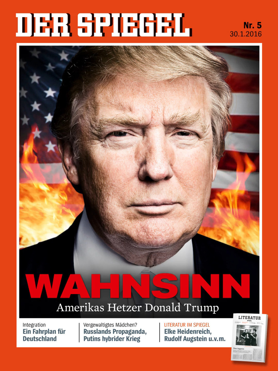 Der spiegel cover story trump a danger to the world for Spiegel magazi