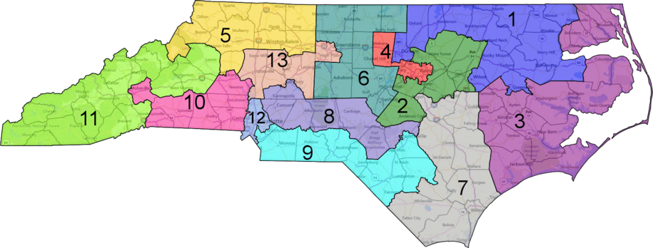 Will North Carolinas New Congressional Map Survive In Court - Nc district map for us congress