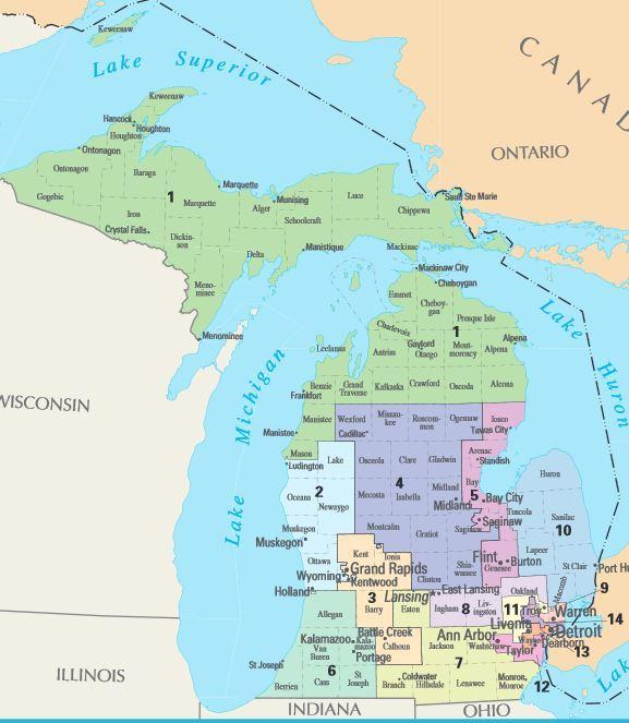 29 Original Michigan District Map 2016 | Afputra.com