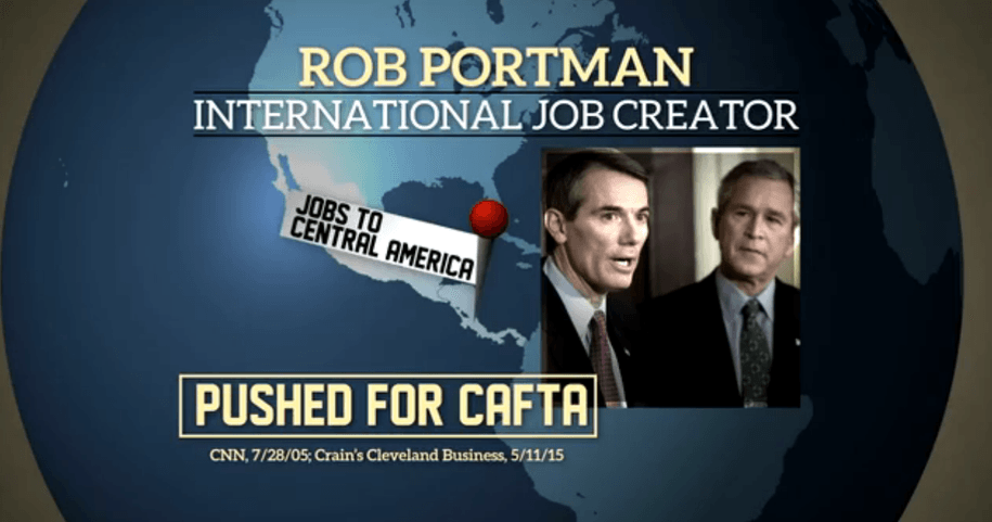 oh sen senate majority pacs ad hits portmans r record pushing bad trade deals that cost jobs