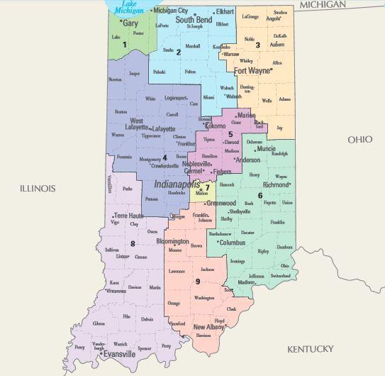 Ok House Of Representatives Congressional Districts By