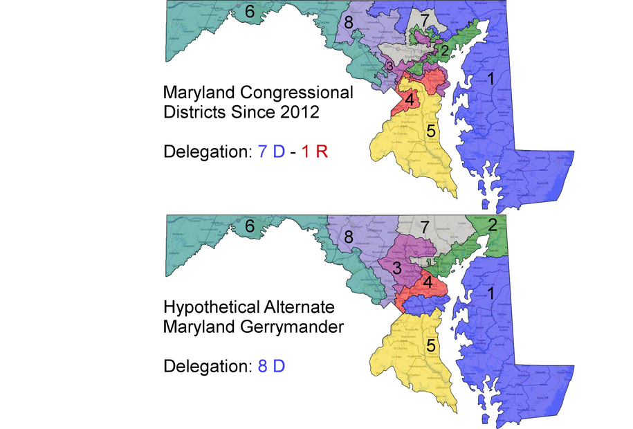 Marylands Congressional Districts 1484 1312 MapPorn