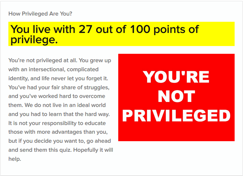 checking my privilege quiz