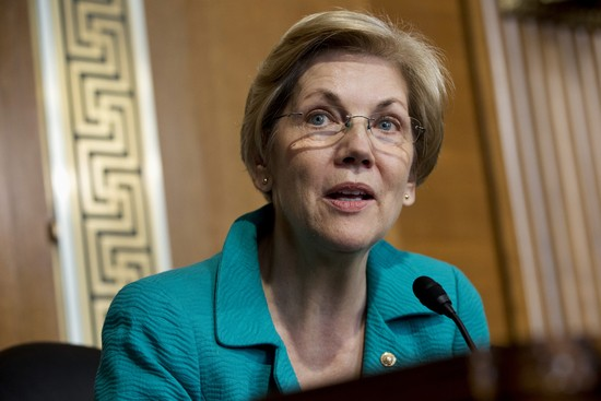 Sen. Elizabeth Warren, D-Mass., asks a question of Secretary of Energy Ernest Moniz during a Senate Energy and Natural Resources Committee hearing on the strategic petroleum reserve and energy security issues, on Capitol Hill in Washington, on Tuesday, Oct. 6, 2015. (AP Photo/Jacquelyn Martin)