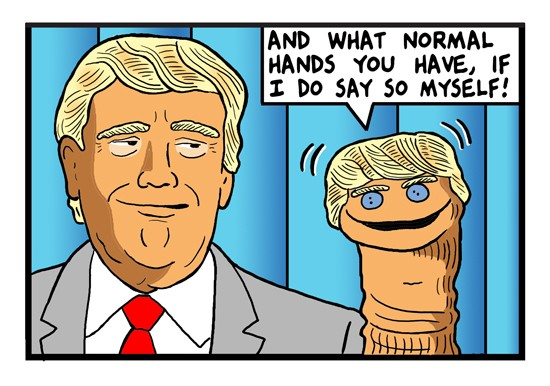 Cartoon by Tom Tomorrow -- The great Trump overload