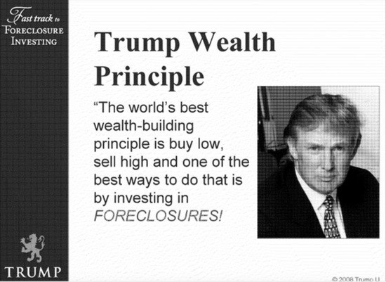 Trump University foreclosure brochure