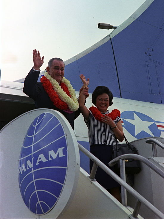 Patsy Mink with LBJ 1966