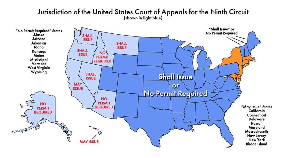 Ninth Circuits Decision No Slam Dunk For Gun Control - Us court circuit map