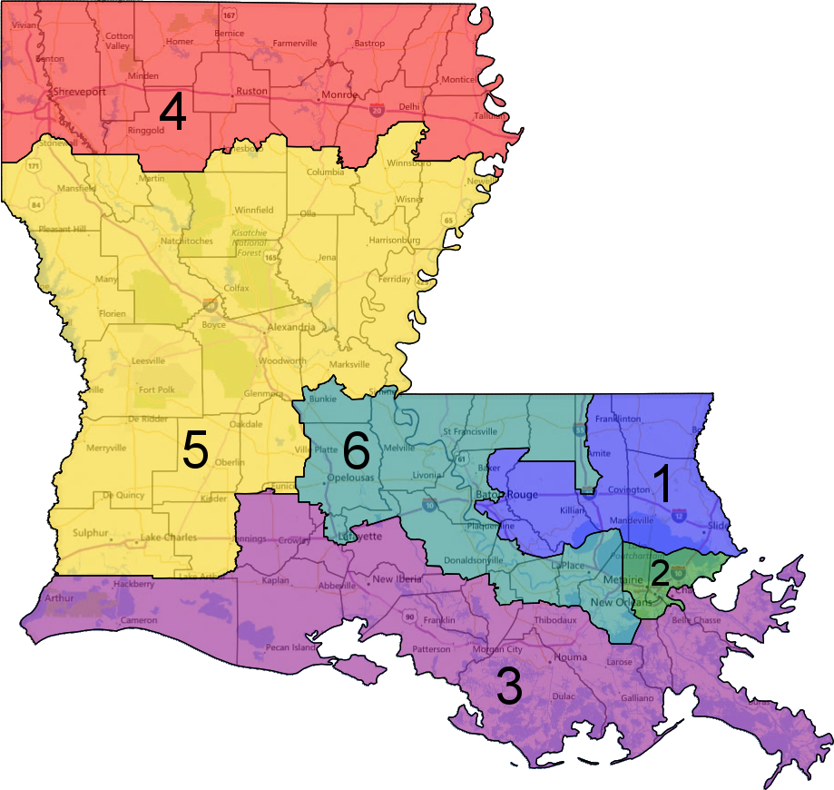 Nearly Every Southern State Could Have Drawn Another Congressional - Louisiana us representative map