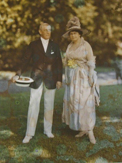 Wedding picture of  woodrow and edith wilson