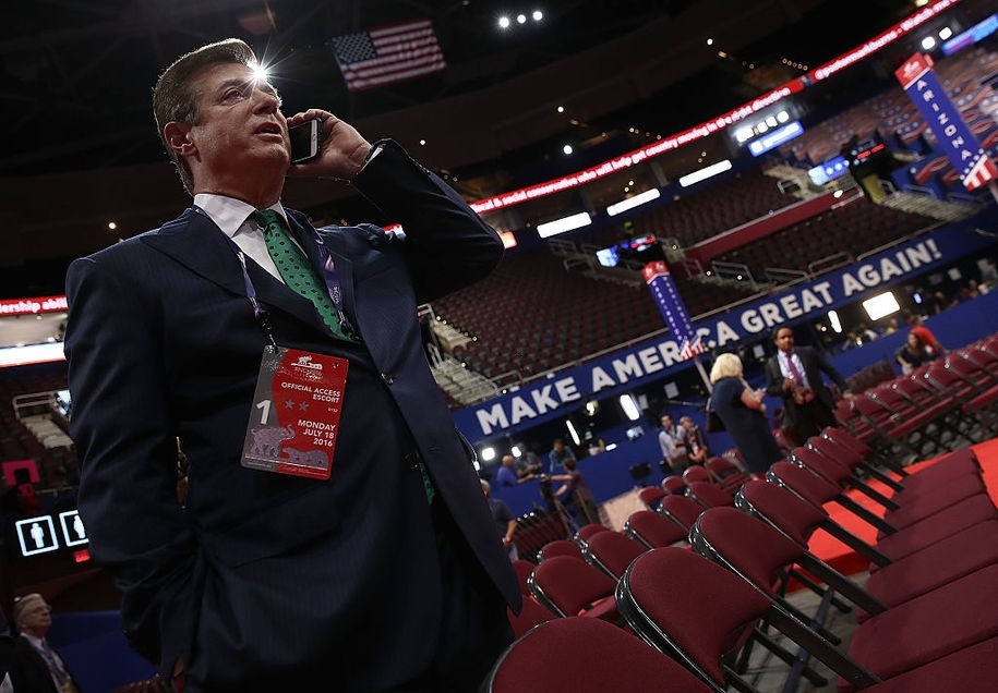 Manafort is back and apparently never left, despite being the target of an FBI investigation