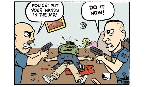 Cartoon by Matt Bors -- The cannibal frat boy