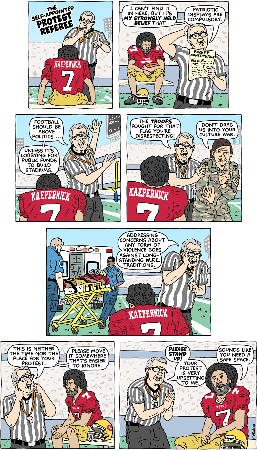 Cartoon the self appointed protest referee cartoon the self appointed protest referee voltagebd Choice Image