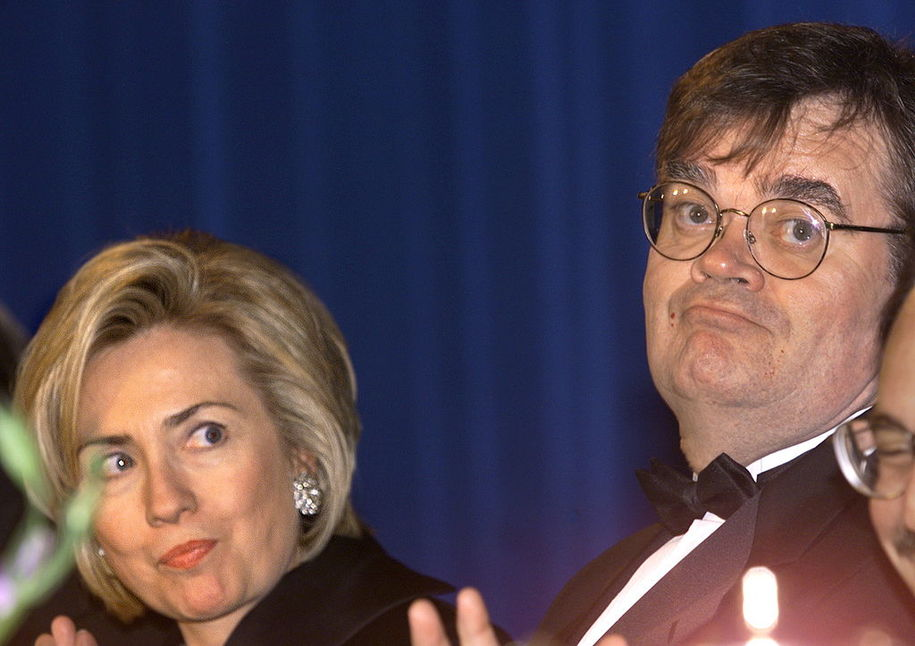 Garrison keillor history will show a woman was required to run for washington us first lady hillary clinton l looks towards featured entertainer garrison expocarfo
