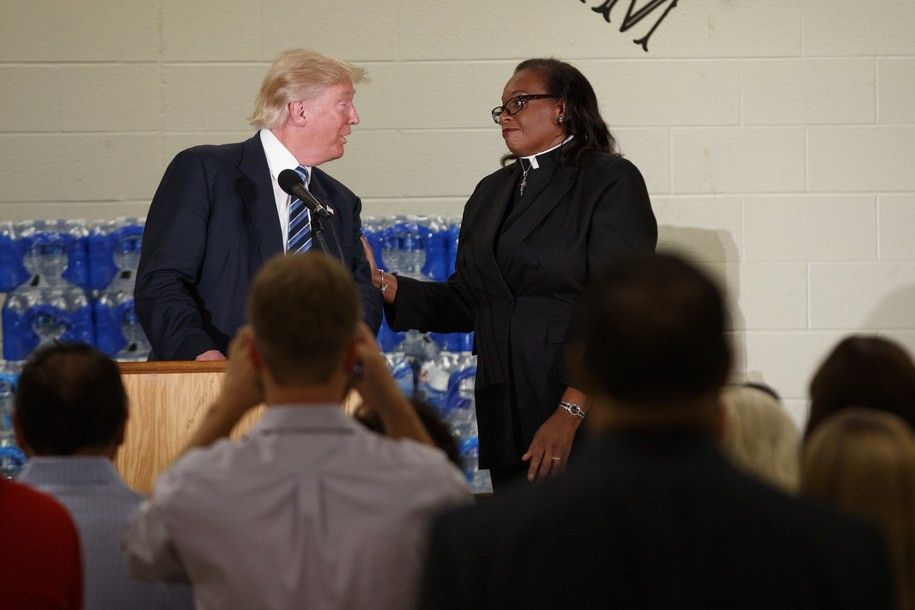 NPR reporter says Trump 'misstates key facts' (he lied) about Flint church visit