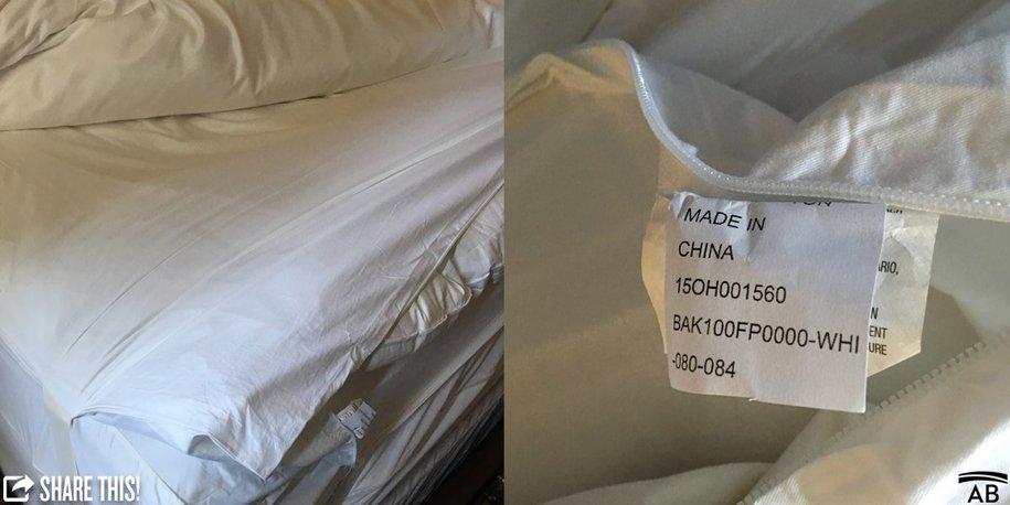 Made In China Sheets And Comforters At The Trump International Hotel