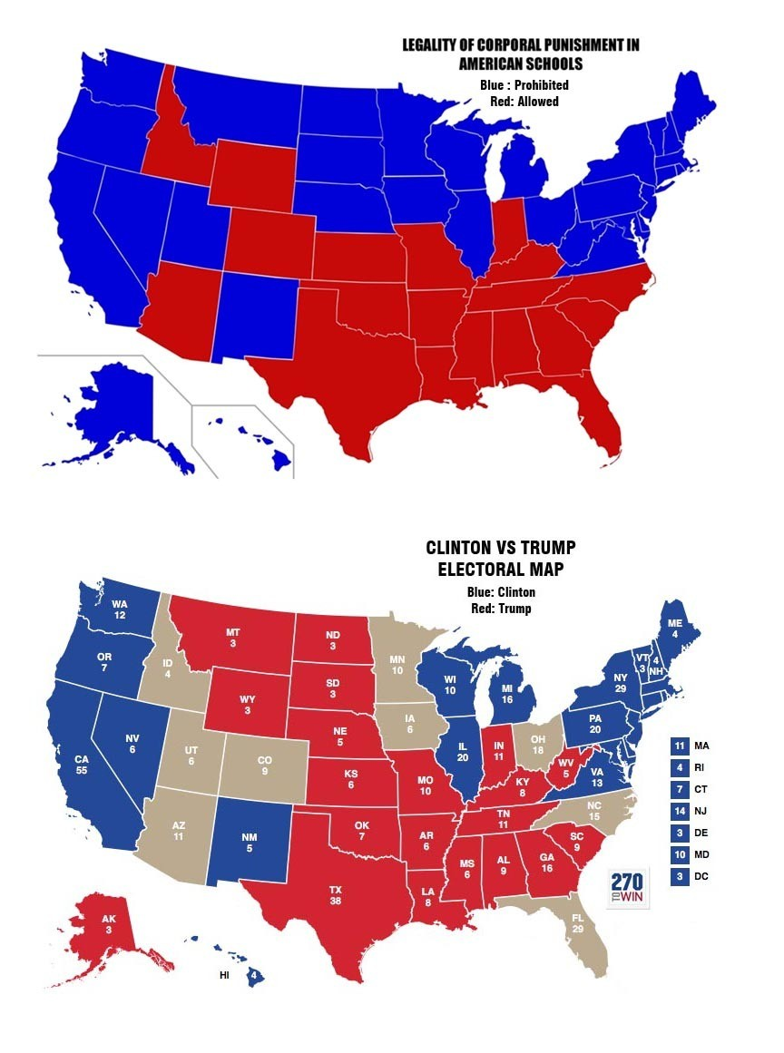 By Coincidence Trump Support Is Strong In States That Allow