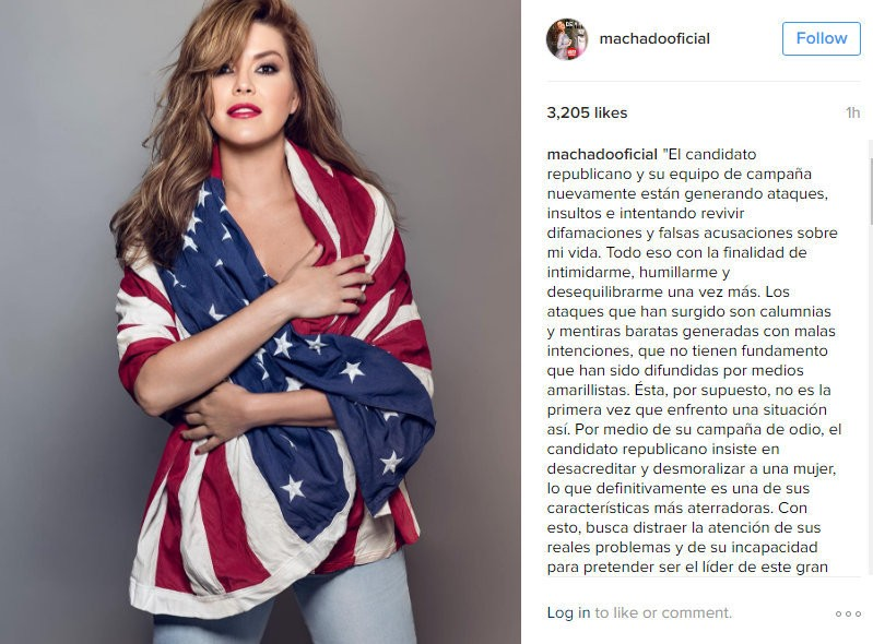 Alica Machado's response to Donald Trump.