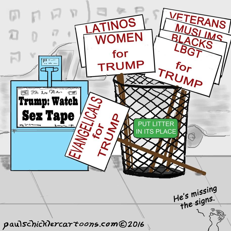 Image result for trump sex tape cartoons