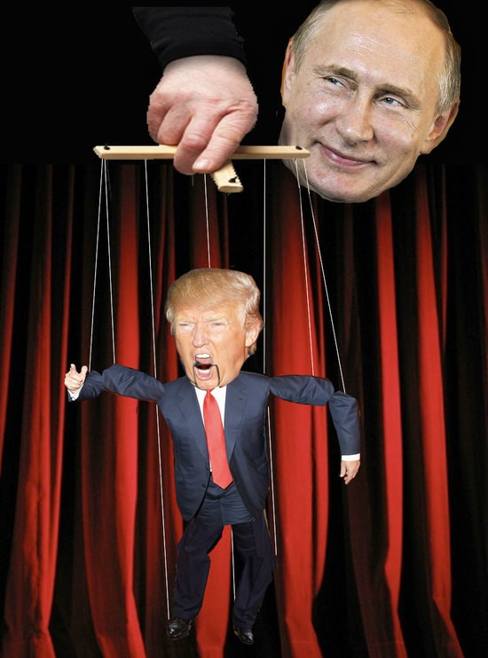 Image result for putin puppet trump