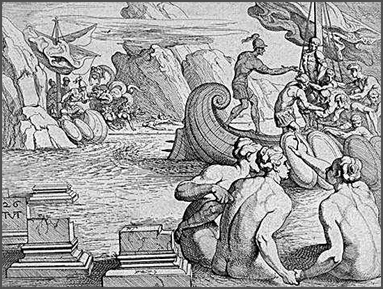 the role of skylla in homers the odyssey Odysseus, ulysses, the iliad, the odyssey we get glimpses of odysseus in the iliad and his role in the defeat of troy but his six-headed skylla and the ship.