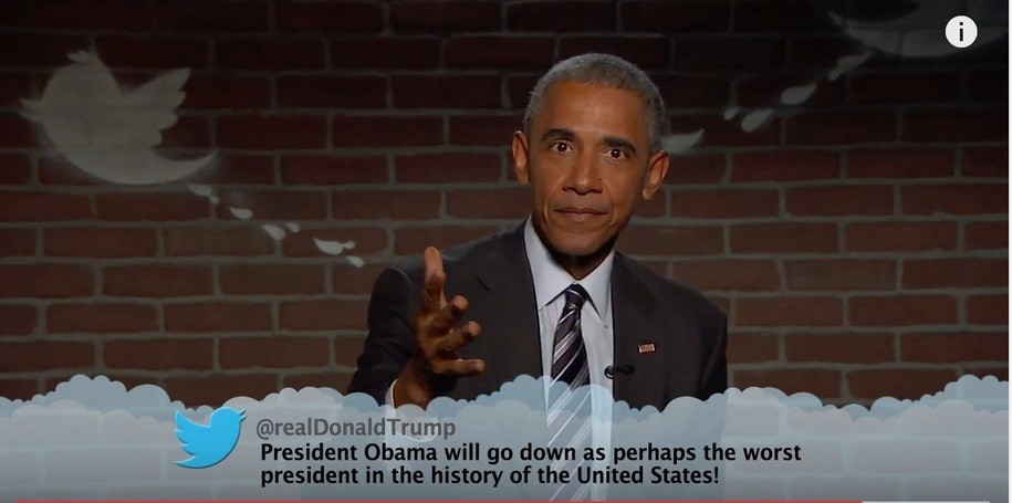 Watch President Obama Read 'Mean Tweets' on Jimmy Kimmel Live and Drop an Anvil on @realDonaldTrump