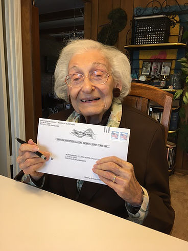 About this Site I Waited 96 Years was created in October 2016 by Sarah Bunin Benor, Roberta Schultz Benor, and Tom Fields-Meyer. The website was inspired by a picture of 98-year-old Estelle L. Schultz (Roberta's mother and Sarah's grandmother) casting her absentee ballot for Hillary Clinton. On Estelle's request, Roberta took the photo and asked Sarah to share it on Facebook. Within a few days it had over 1600 likes and many comments that involved tears in people's eyes. Tom, a friend of Sarah's, suggested creating a site with similar photos, and this project was born.