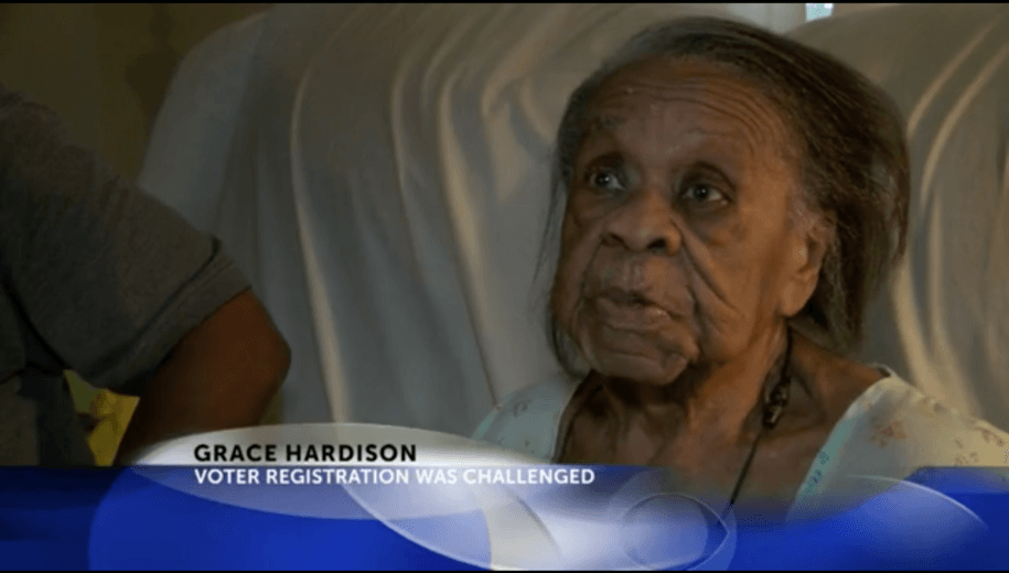 North Carolina voter Grace Bell Hardison