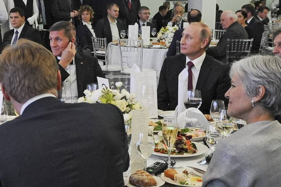 Image result for photo michael flynn putin jill stein