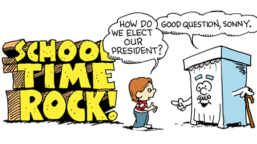 Cartoon by Ruben Bolling -- School Time Rock: Time to use the Electoral College