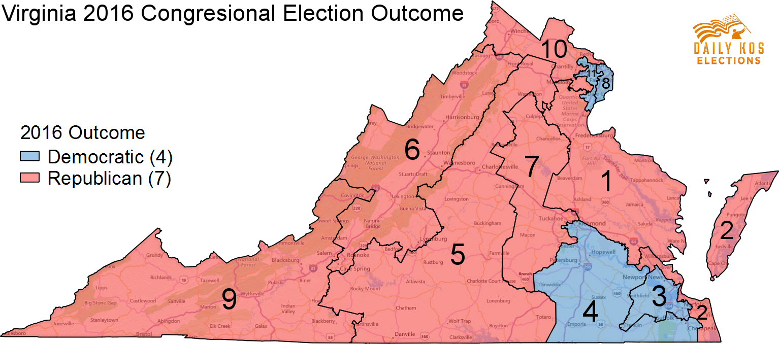 Here S What Virginia Might Have Looked Like In 2016 Without