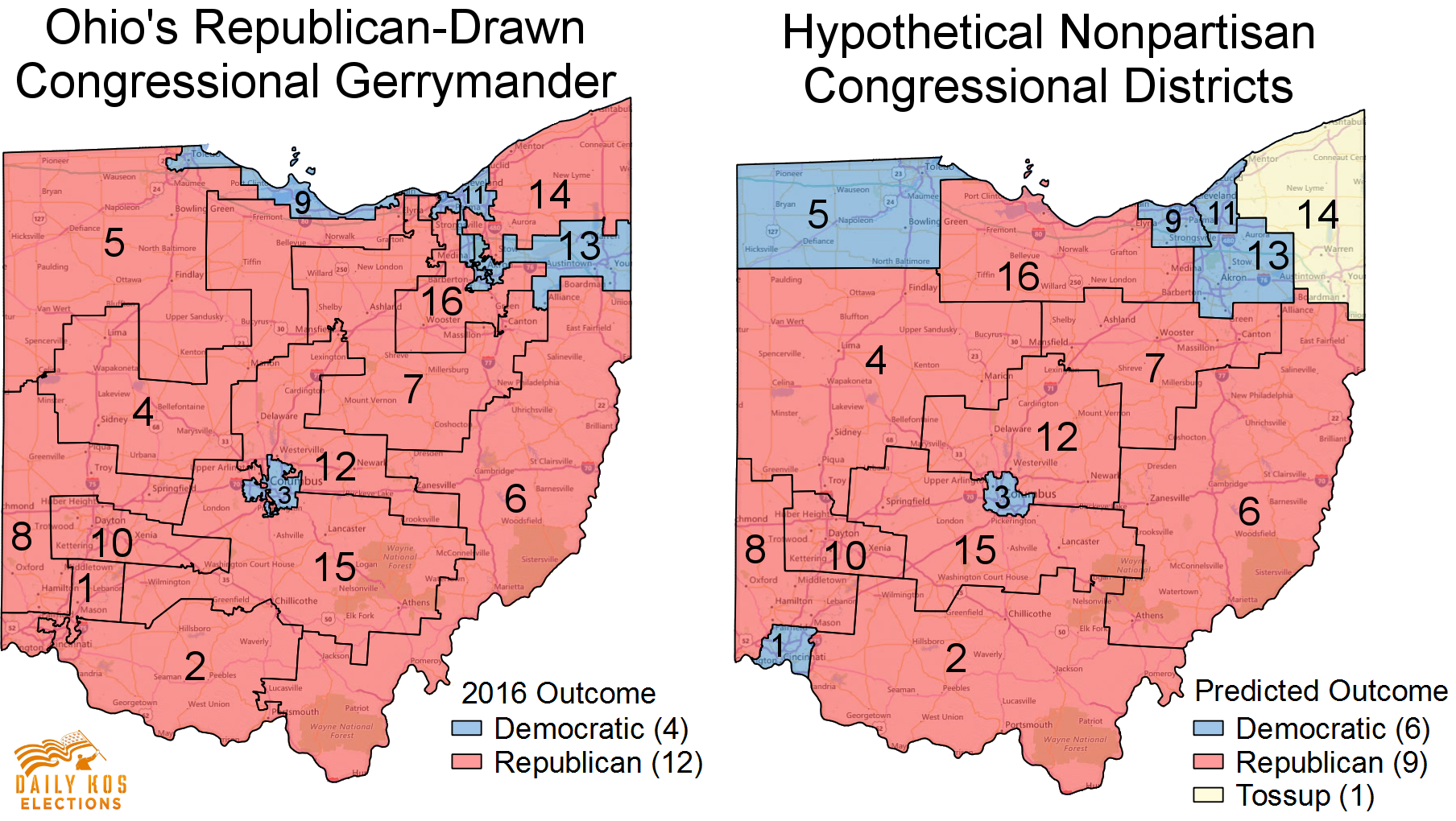 Heres What Ohio Might Have Looked Like In Without - Us congressional districts map ohio