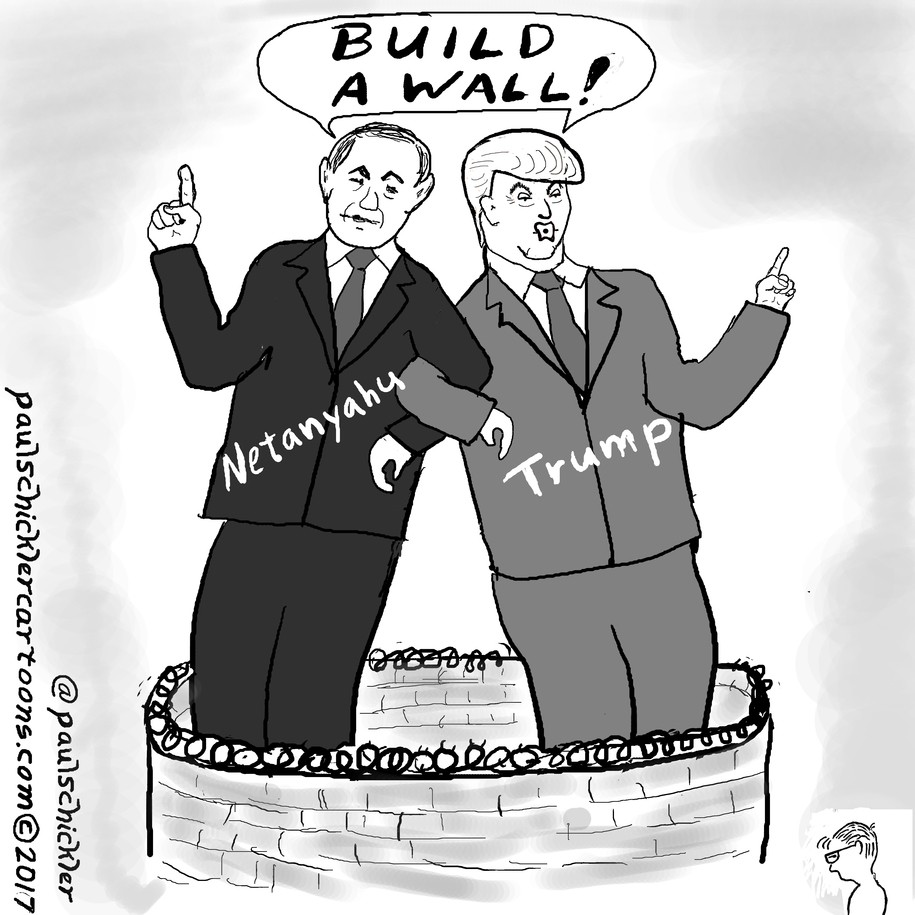 Image result for Netanyahu' TRUMP CARTOON