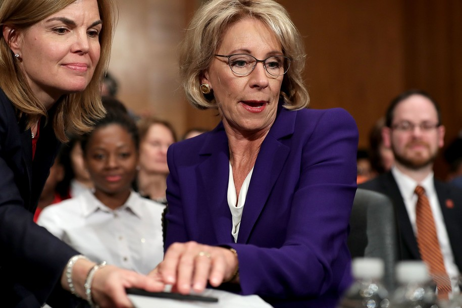 After confirmation, GOP Congressman filed legislation showing the real reason they backed DeVos
