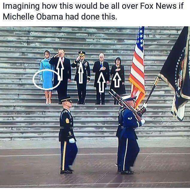 Veterans Saluting The Flag In Civilian Clothes