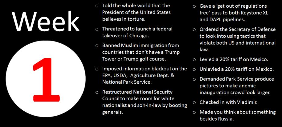 Trump Week 1