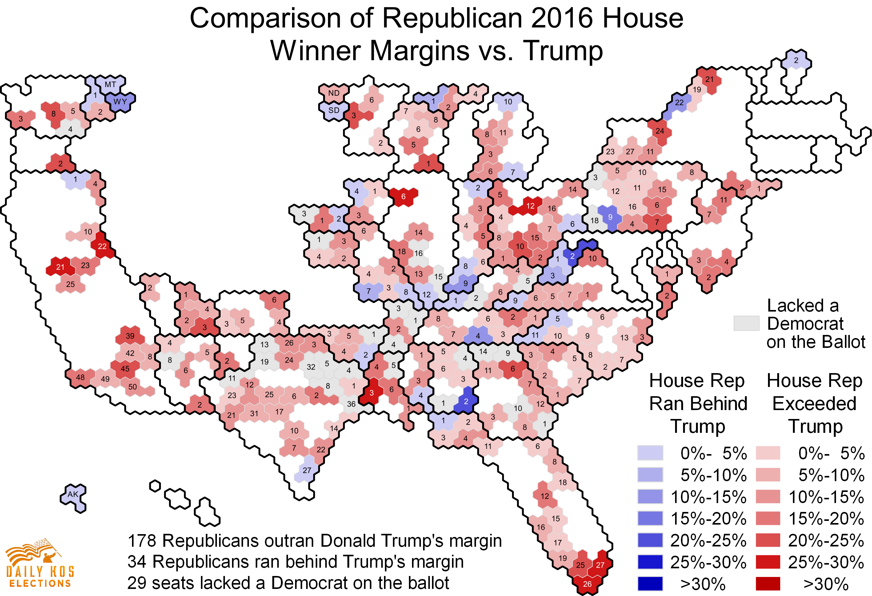 Check Out Our Maps And Analysis Comparing S Presidential And - Democrat republican map
