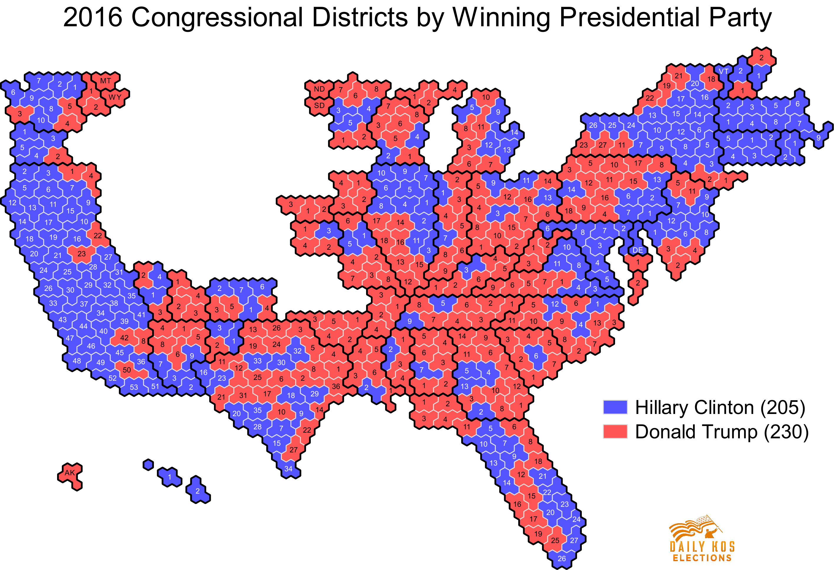 Daily Kos Elections Presents The Presidential Election - Map of most democratic counties in us